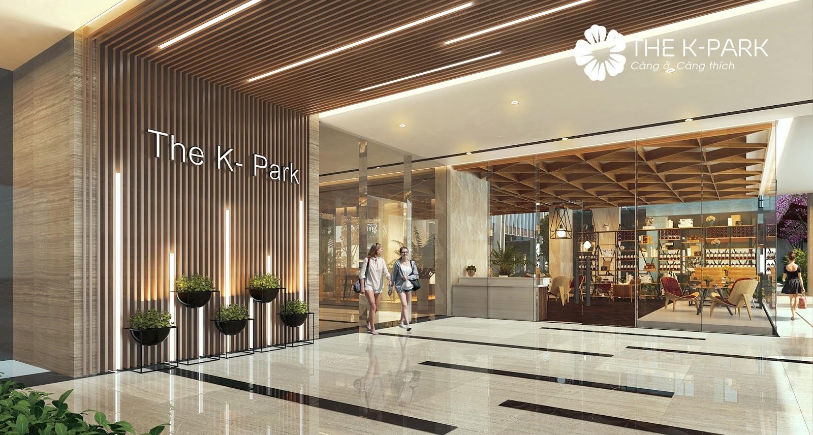 Sảnh chờ chung cư The K Park