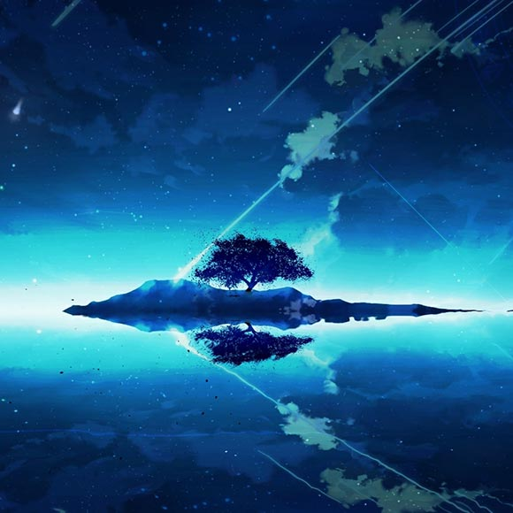 Starry Island Wallpaper Engine