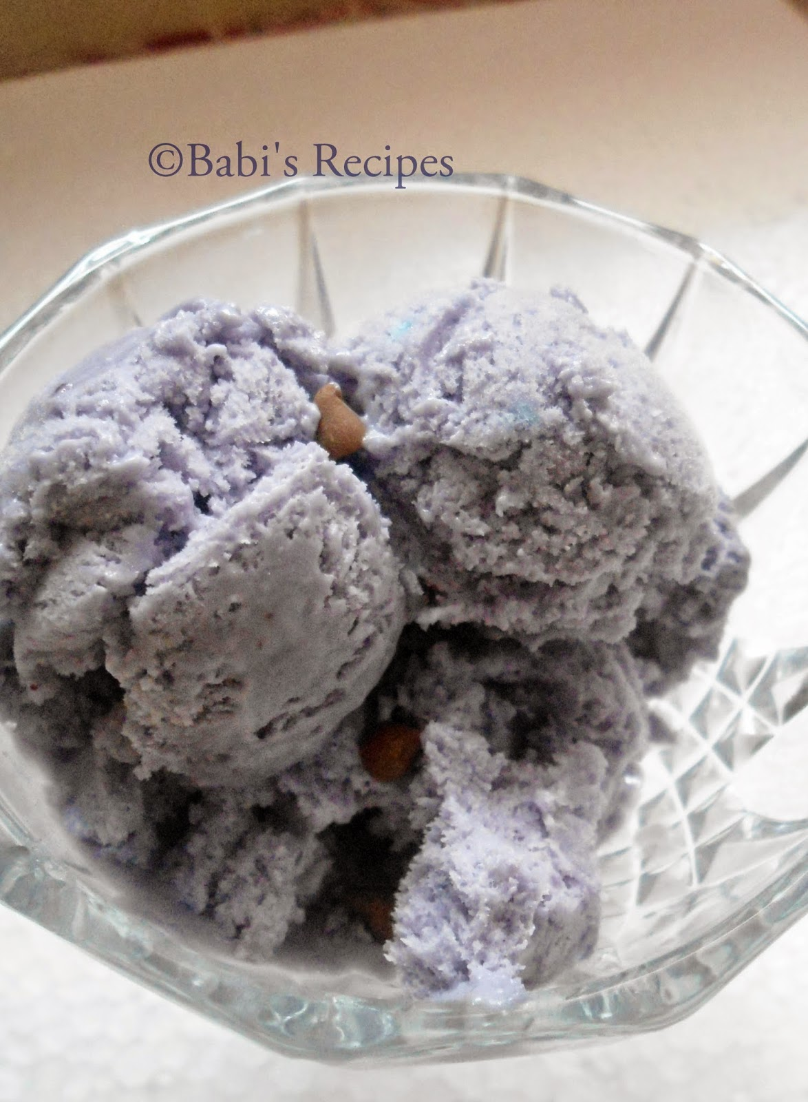 blue berry ice cream