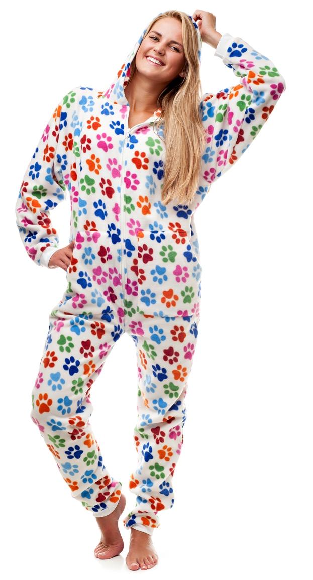 02b252566 Kajamaz Adult Footie Pajamas