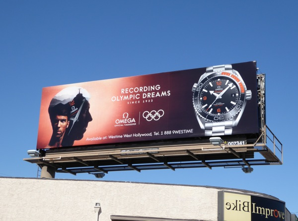 Omega Watches Recording Olympic dreams billboard