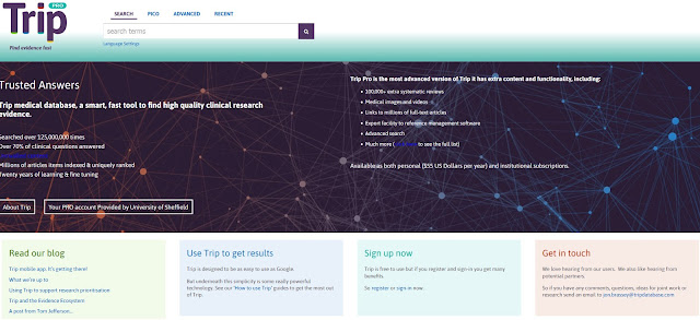 Image of the Trip Search Engine website
