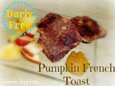 Recipe for making no-fuss dairy free pumpkin french toast