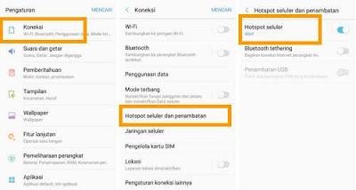 menu rubah SSID HP Samsung