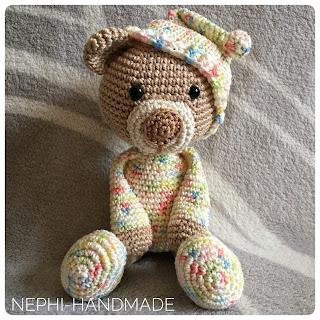 Teddy im Schlafanzug - #gehäkelt #crochet