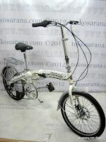 3 Sepeda Lipat Erminio 003 6 Speed Shimano dengan Rangka Aloi dan Rem Cakram 20 Inci