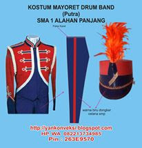 KOSTUM MAYORET PUTRA DRUM BAND DAN MARCHING BAND  KOSTUM MAYORET PUTRA DRUM BAND DAN MARCHING BAND