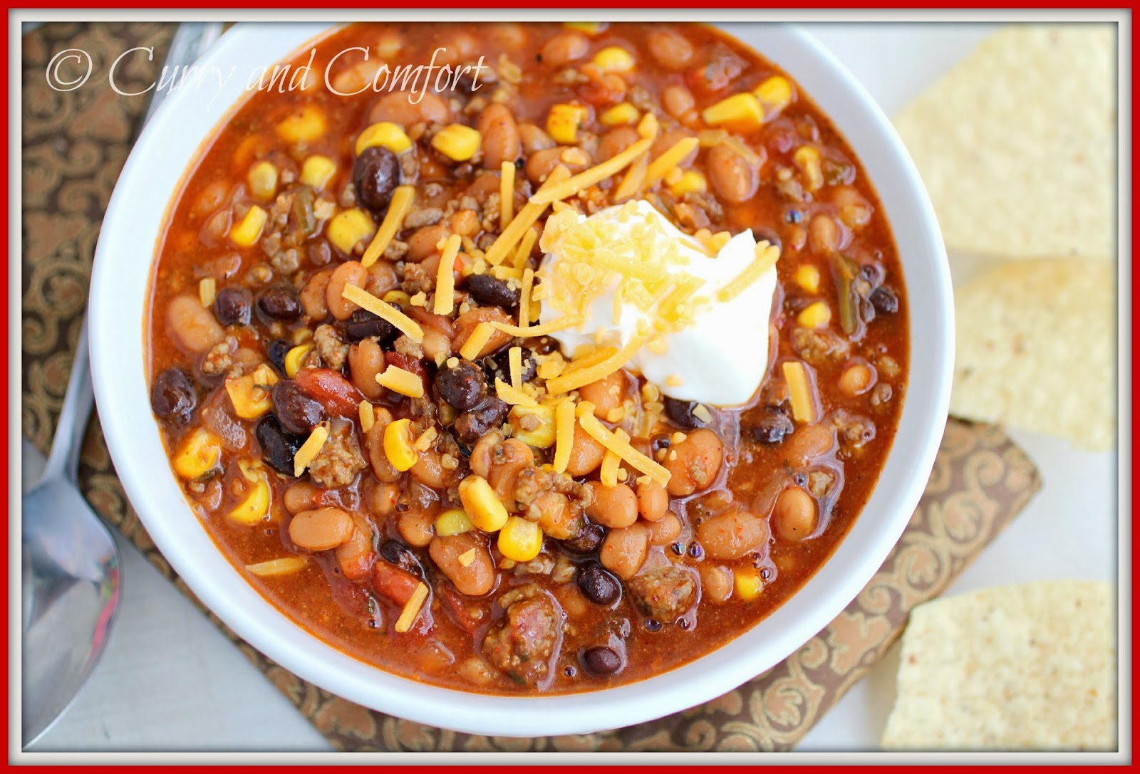 Kitchen Simmer Chicken Chili With Beans And Corn