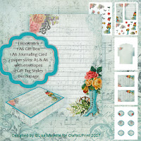 Beautiful Booty Vintage Art Stationery Set Decoupage Kit