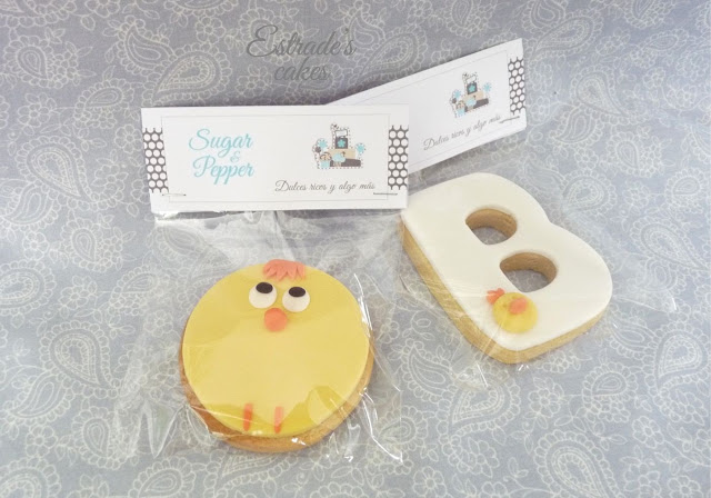 galletas con fondant de pollito - 2
