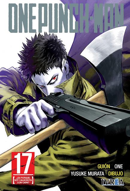 "Ivréa muestra su portada de ""One Punch-Man"" (ワンパンマン) vol. 17."