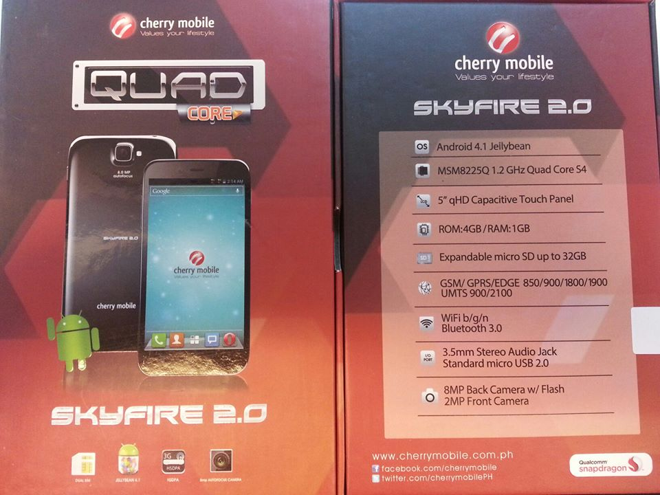 Cherry Mobile SkyFire 2.0 Retail Box