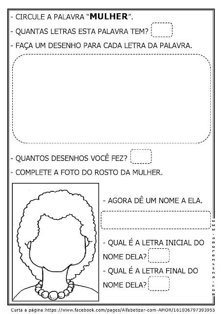 DIA INTERNACIONAL DA MULHER - 2º PERÍODO E OU 1º ANO