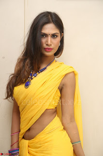Nishigandha in Yellow backless Strapless Choli and Half Saree Spicy Pics 122.JPG