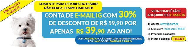 Promoção E-Mail iG Diário de S. Paulo