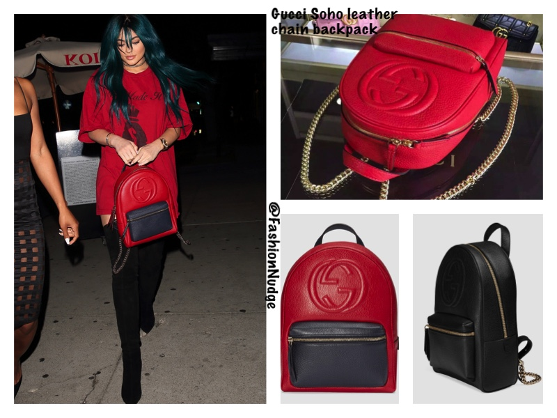 Snag the Look - Kylie Jenner in Gucci Soho leather chain backpack 76b56fe4084bc