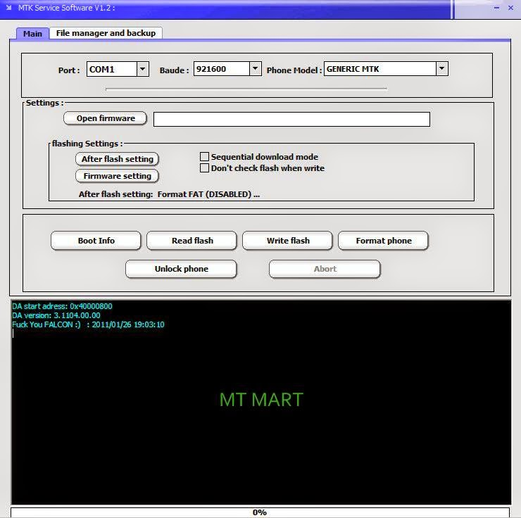 Mtk android format tools