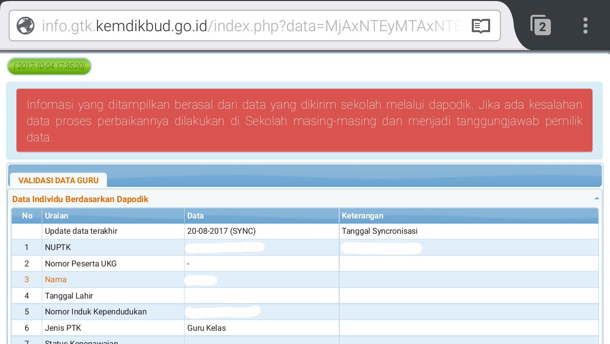 Cara Cek Info GTK Terbaru Dapodikdas 2018   Inulwara