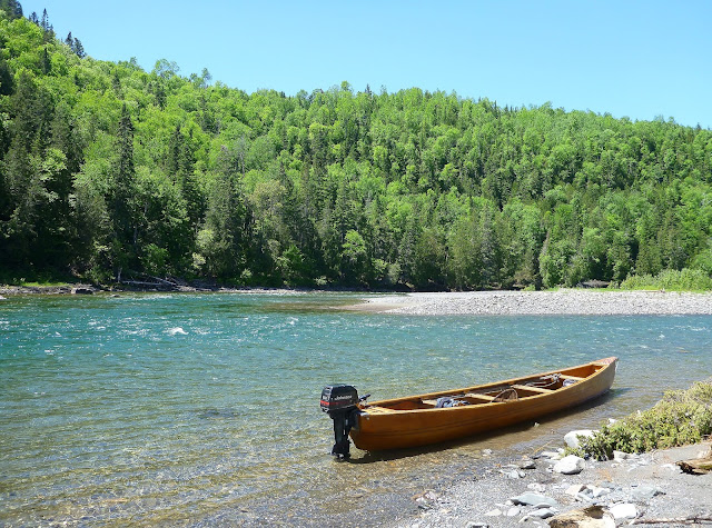 Claude Bernard's canoe on the Bonaventure river, Gaspé