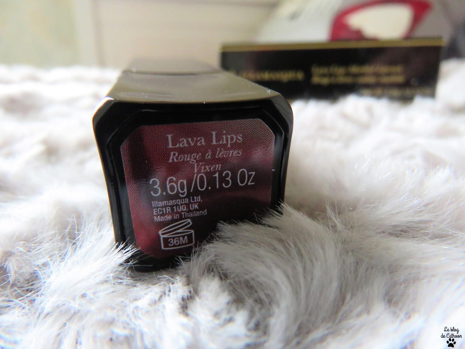 Rouge à lèvres couleur marbré - Vixen - Laval Lips - Illamasqua