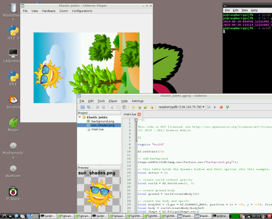 GiderosMobile: Gideros now runs on Raspberry Pi!