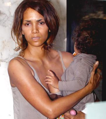 Image result for HALLE BERRY NO MAKEUP