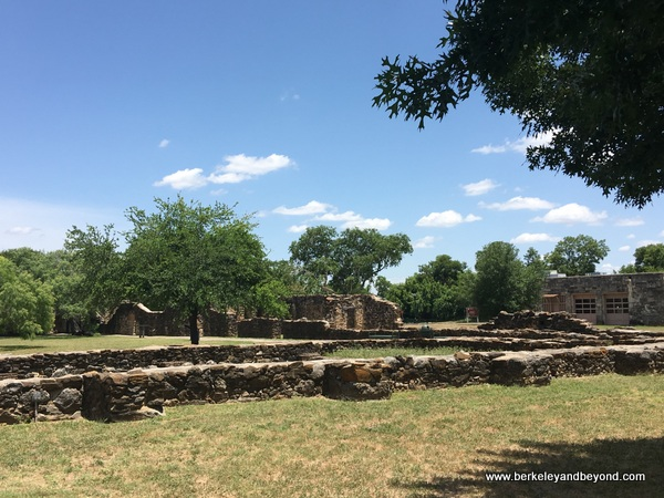 expansive grounds at Mission Espada in San Antonio Missions National Historical Park in San Antonio, Texas