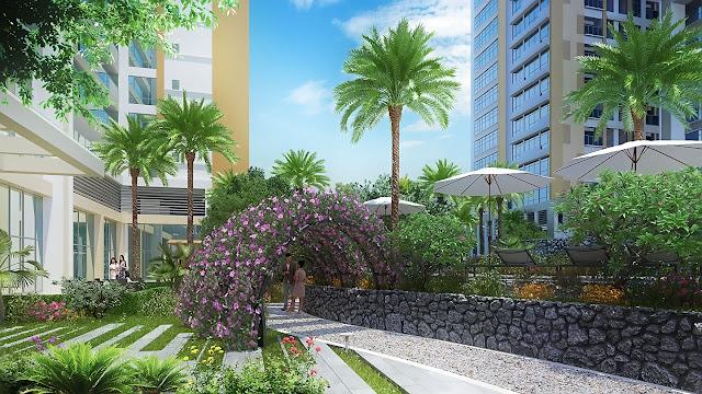 Vườn hòa dạo bộ thơ mộng lại dự án Louis City