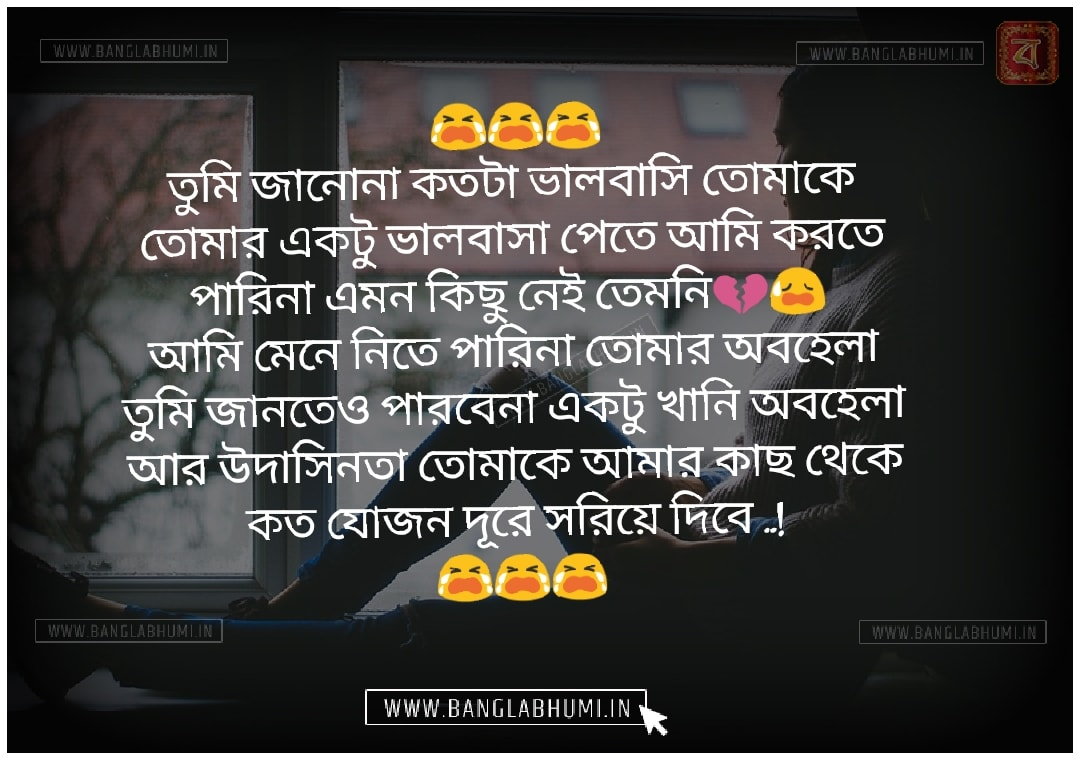 Whatsapp Bangla Sad Love Shayari Status