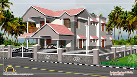 Duplex House Elevation - 249 Sq M (2682 Sq. Ft) - January 2012