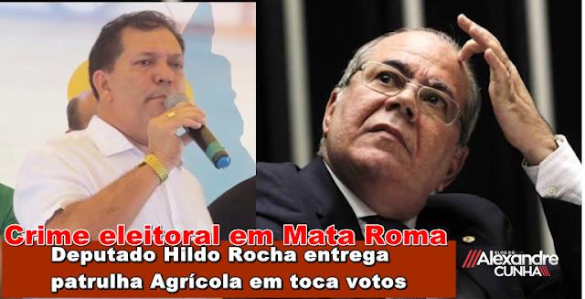 Chamem a polícia Federal! Em áudio, Hildo Rocha e Araújo Diniz entregam patrulha mecanizada em troca de votos na cidade de Mata Roma