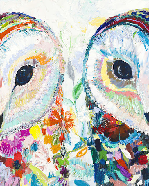 Colorful Animal Portraits Paintings by Starla Halfmann