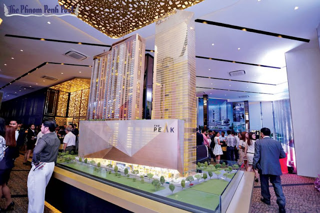 A model of The Peak on display at an Oxley Holdings showroom earlier this year. Hong Menea