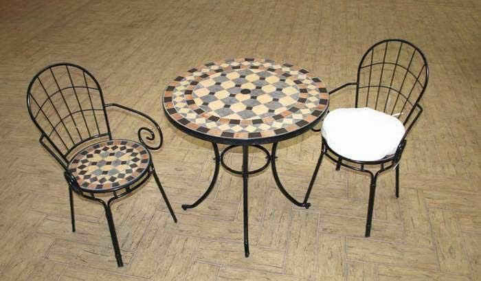 mesa y 2 sillas para terraza forja, mesa y sillas jardin