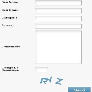 Formulário de contato do PTC IlhaBux