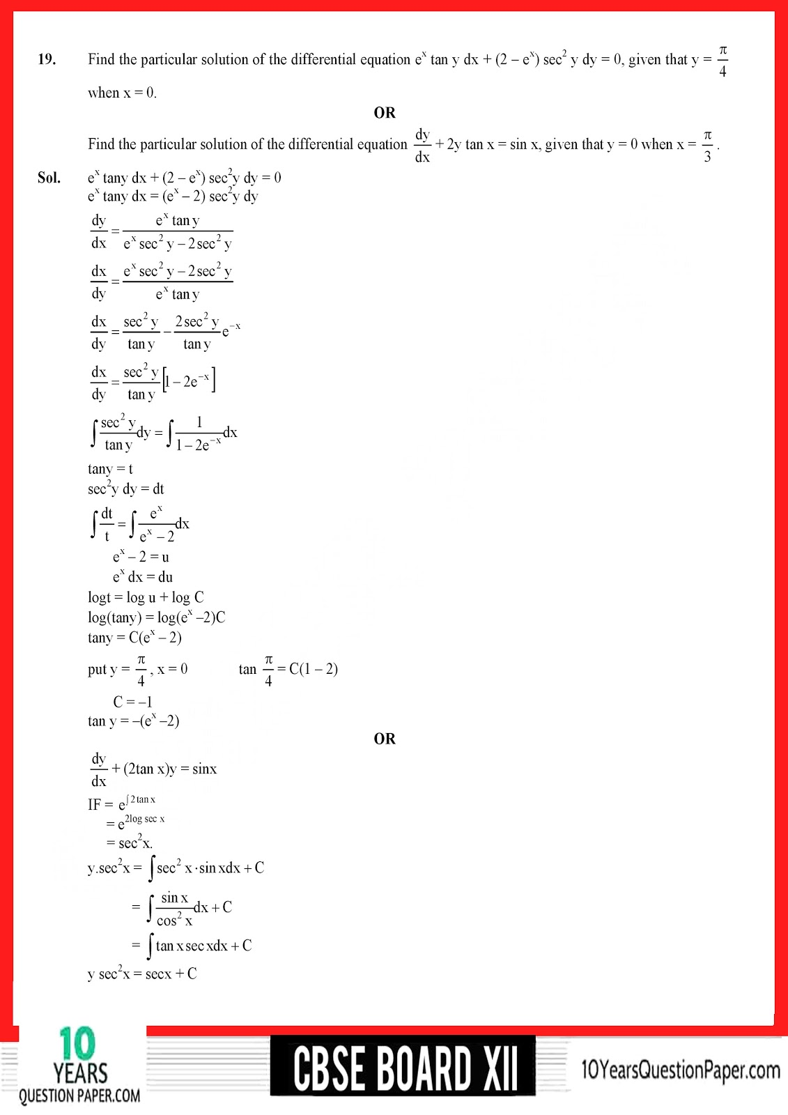 Maths 2018 solved paper for CBSE class 12