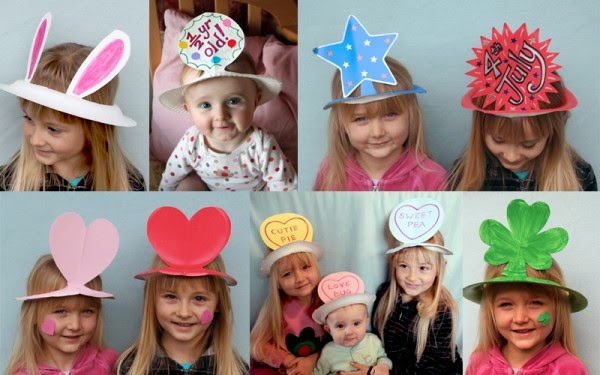 kids funny party hat from plastic plate
