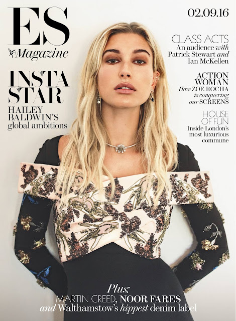 Fashion Model, @ Hailey Baldwin – Evening Standard Magazine September 2016.