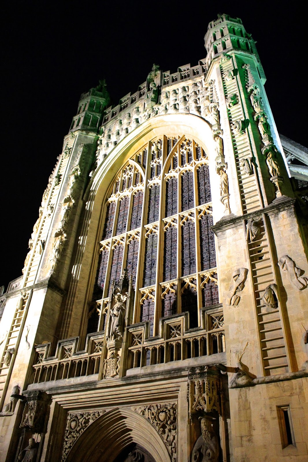 Bath Abbey at Night Photography