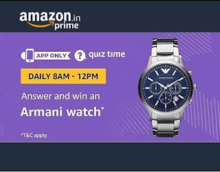 Amazon Armani Watch Quiz Time