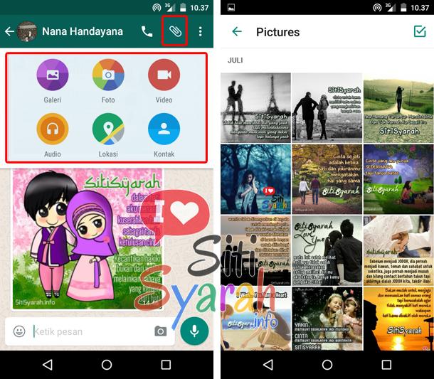 cara kirim gambar di whatsapp android