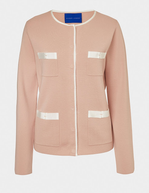 pink Chanel style jacket