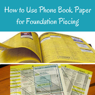 use phone book paper for foundation piecing
