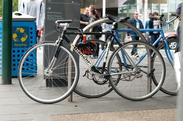Biketorialist Bianchi Pista Single Speed Swanston St