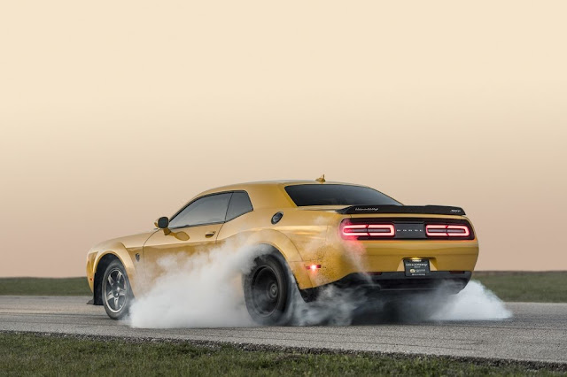 The 1,050 HP of the Dodge Challenger SRT Demon from Hennessey is now available