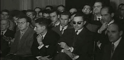 Tribuna de espectadores en el II Torneo Internacional de Ajedrez Madrid 1957