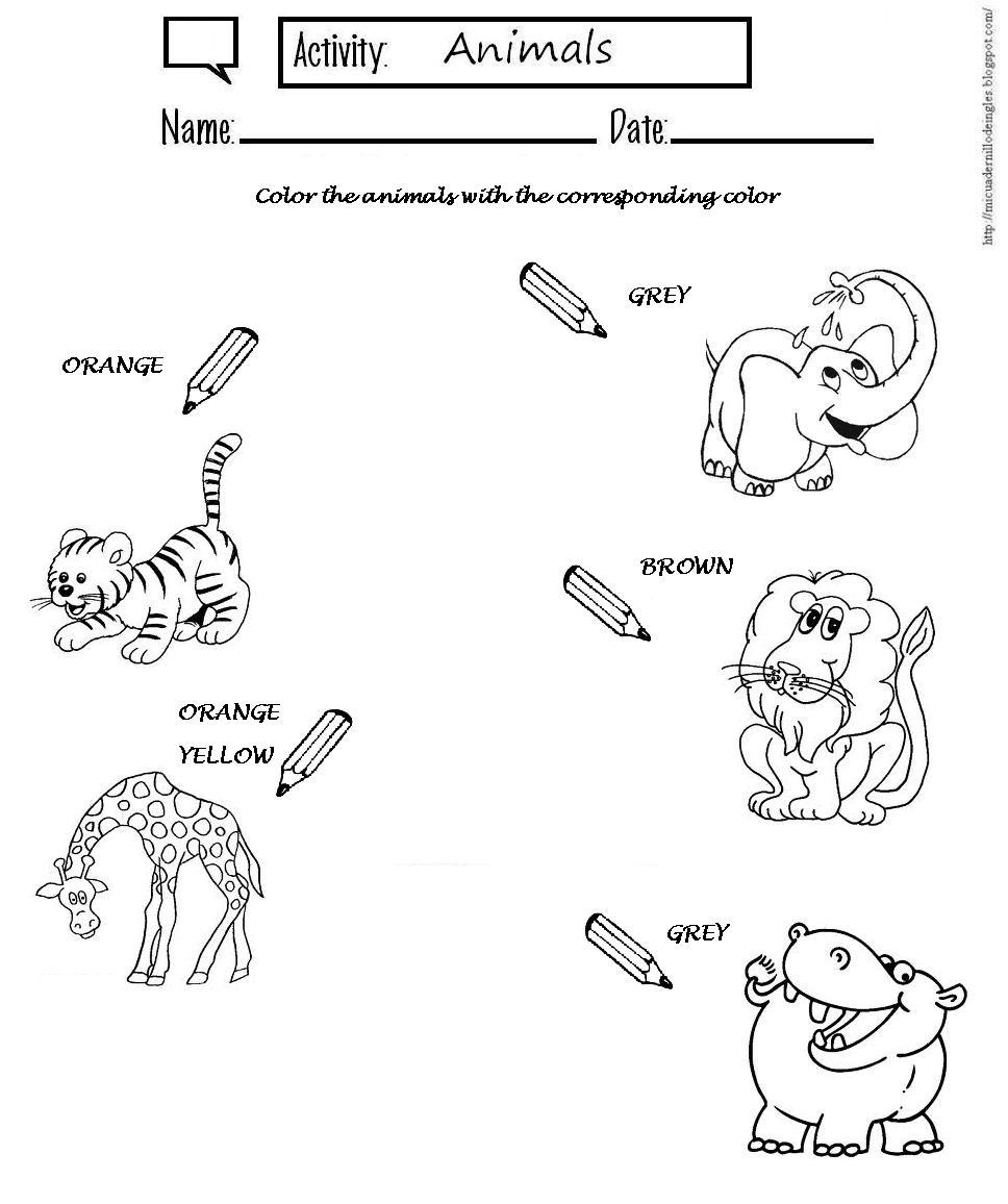 Partes Del Cuerpo De Animales En Ingles Para Niños Niños Creativos
