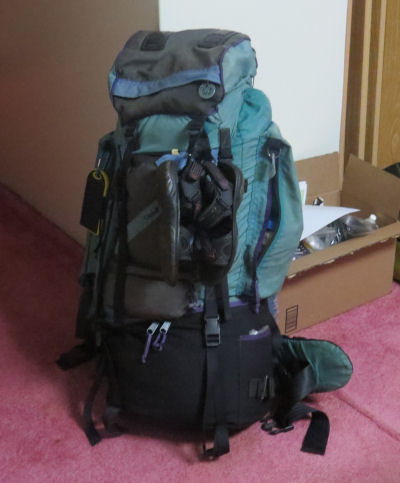 loaded backpack