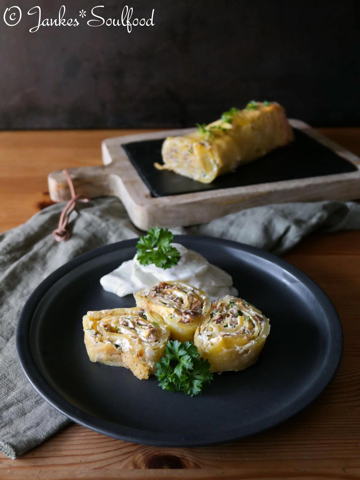 Kartoffel-Steinpilz-Rolle