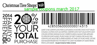 Christmas Tree Shops coupons march 2017